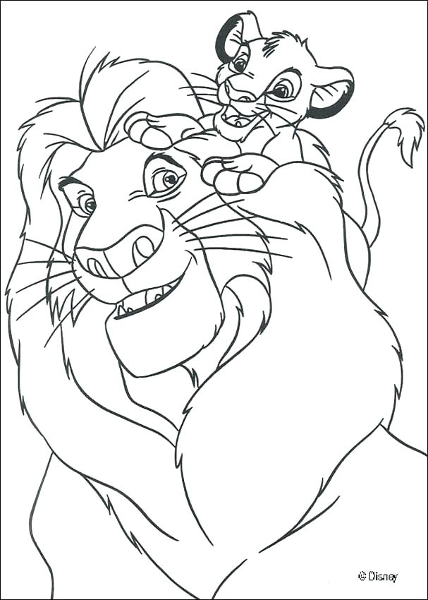 607x850 Lion King Coloring Pages Kiara And Kovu With Page The Osakawan