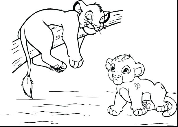 615x438 Lion King Coloring Pages Lion King Coloring Pages Kiara