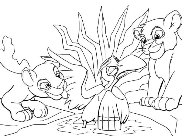 599x450 Lion King Coloring Pages Best Of Kiara Beauteous Acpra