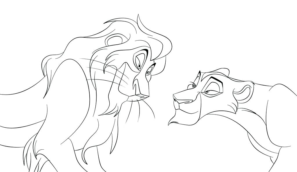 1024x593 Lion N Singing To And Friends Coloring Page Pages The King Free