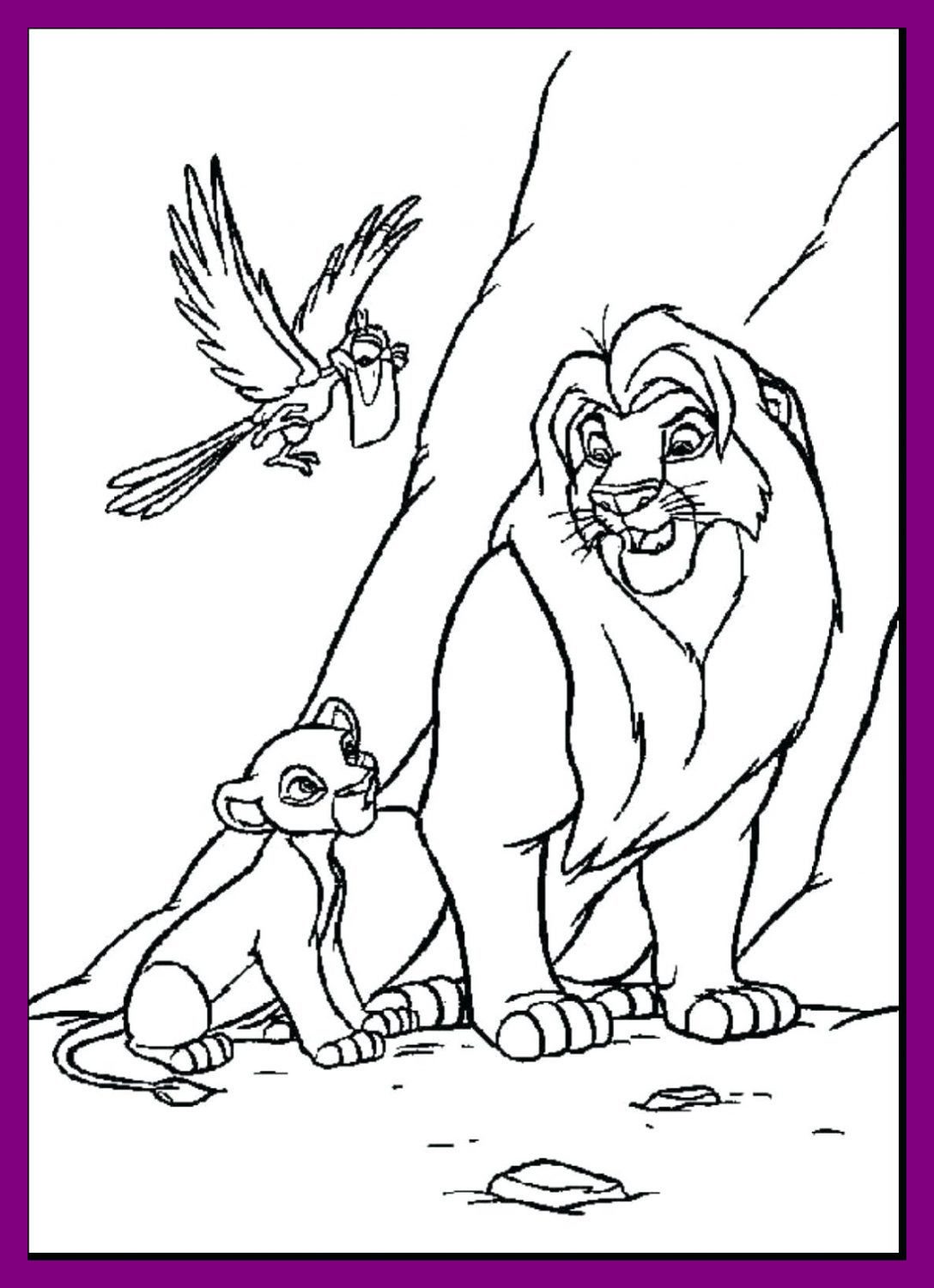 1088x1501 Shocking Coloring Pages Lion King Good With Kiara And Kovu