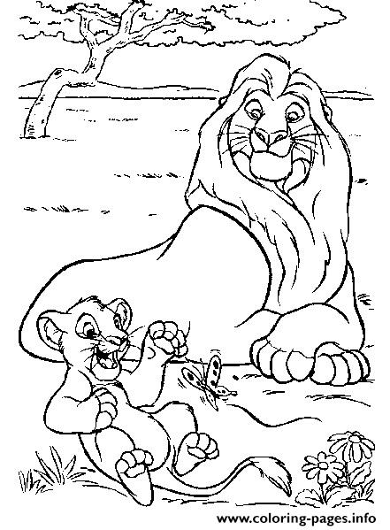 441x599 Simba And Kiara Coloring Pages Printable