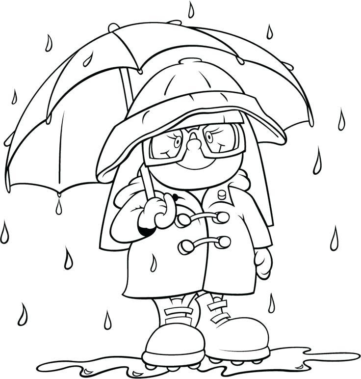 736x772 Rain Coloring Page Weather Coloring Pages Rain A Rain Gauge