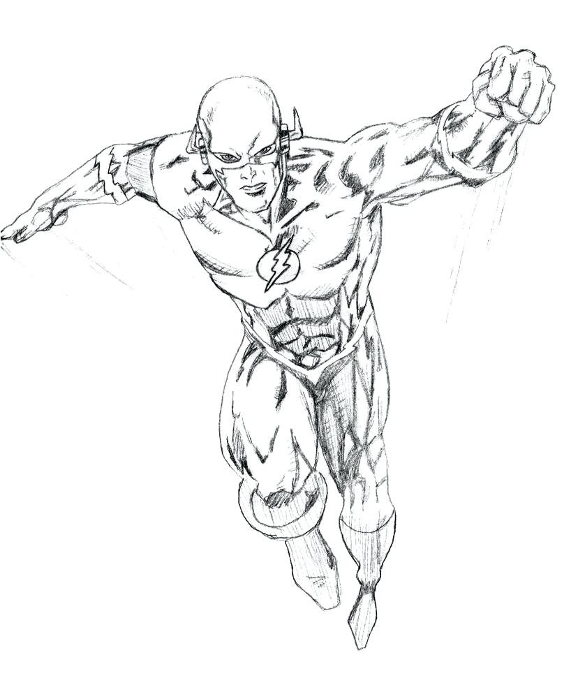 828x965 Kid Flash Coloring Page Fiscalreform Incredible