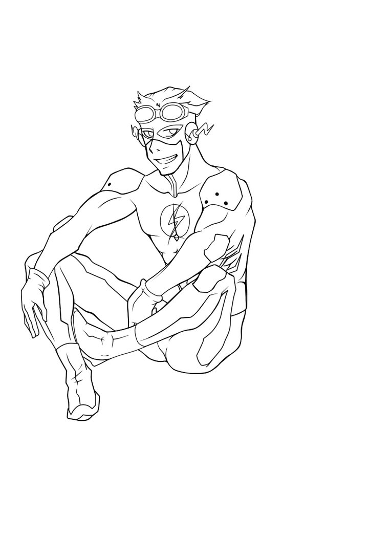 762x1049 Kid Flash Coloring Pages Barkandcall Me
