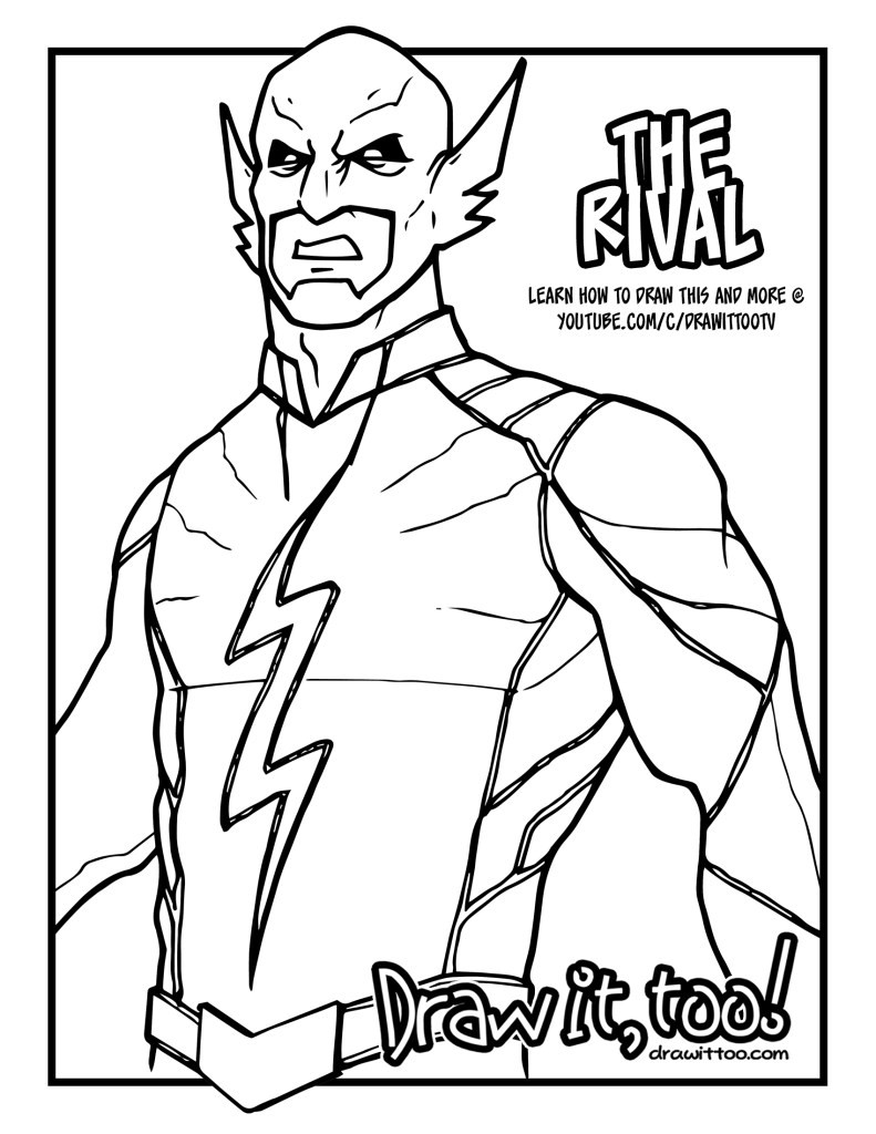 791x1024 Kid Flash Coloring Pages Draw It Too P The Rival Page Cw