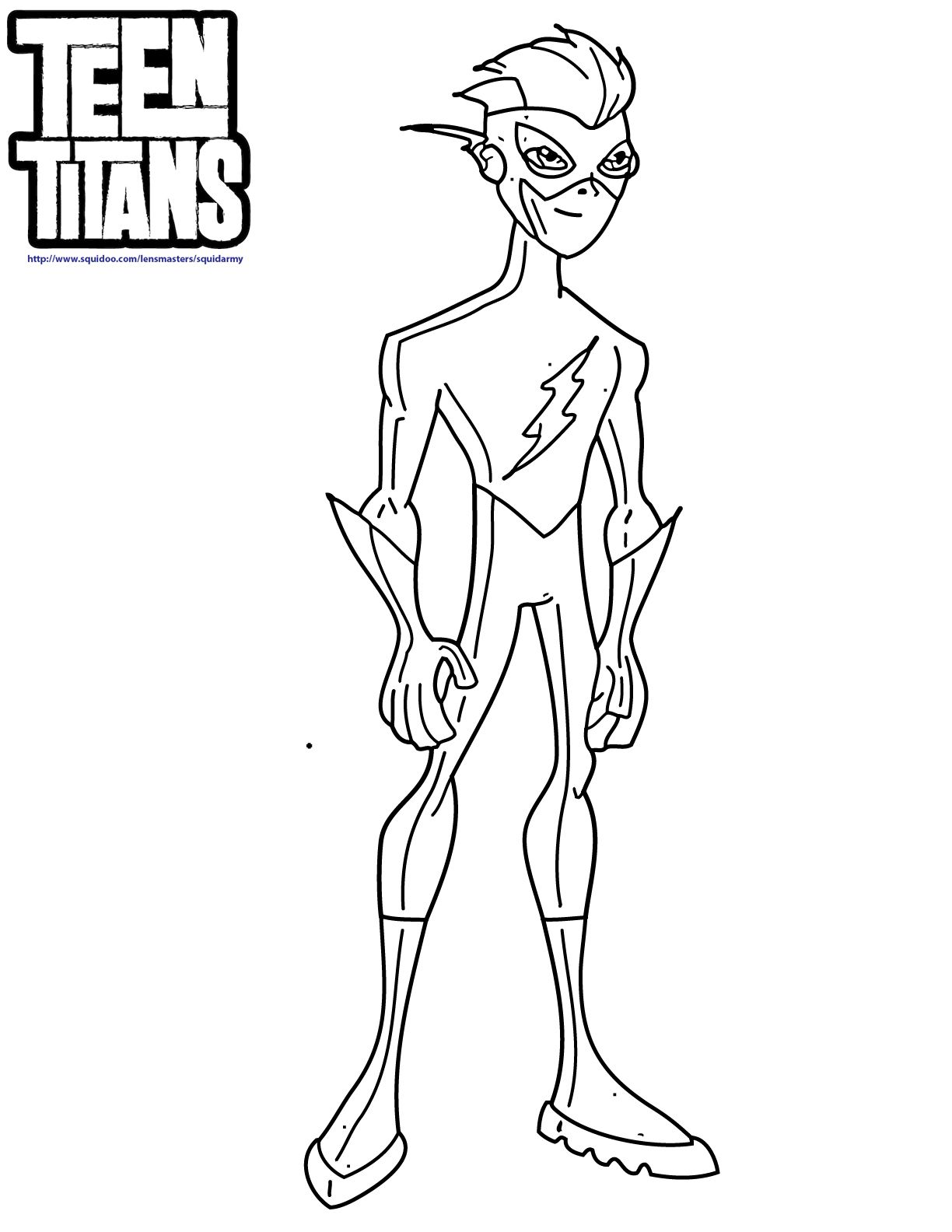 1224x1584 Teen Titans Kid Flash Coloring Pages Coloring Kids Dc Super
