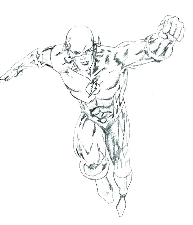 615x716 The Flash Coloring Page The Flash Kid Flash To Coloring Pages