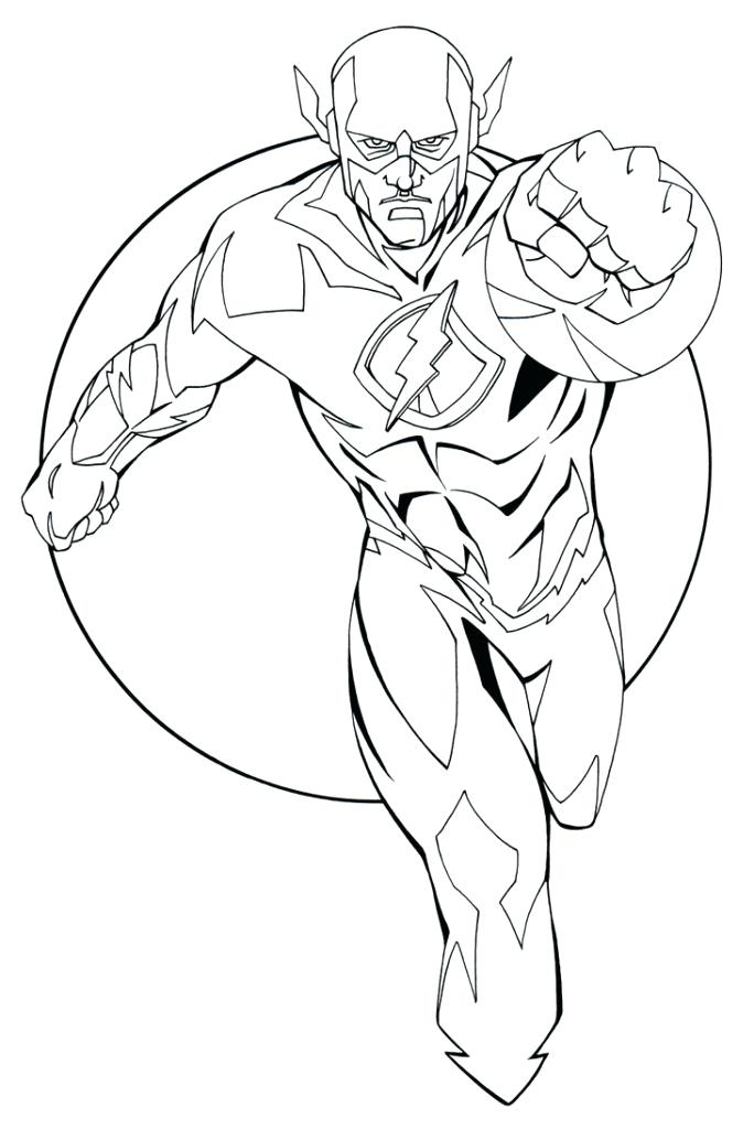 684x1024 Kid Flash Coloring Also Justice League Flash Coloring Pages