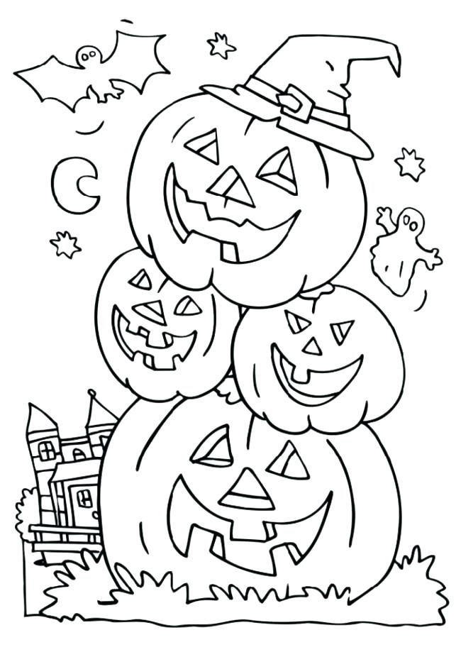 650x919 Halloween Coloring Pages For Preschoolers Kids Coloring Preschool