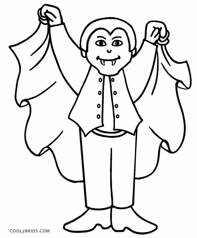 750x909 Vampire Coloring Pages