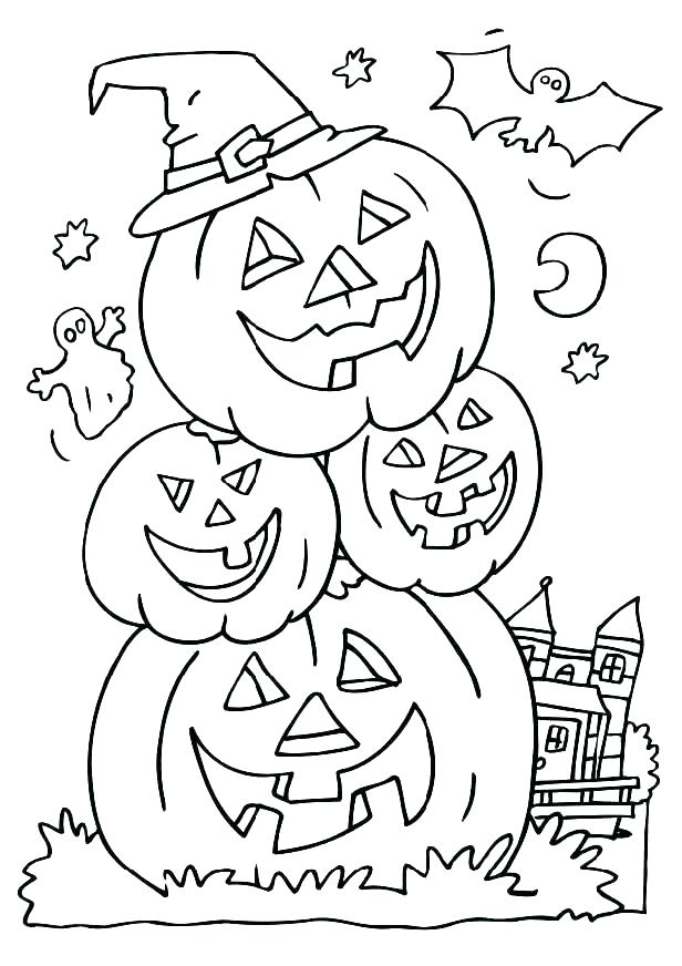 616x872 Kid Friendly Halloween Coloring Pages Halloween Coloring Pages