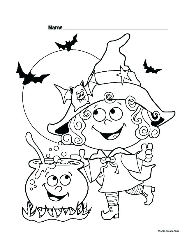 618x800 Childrens Halloween Coloring Pages Cute Happy Coloring Pages Kid