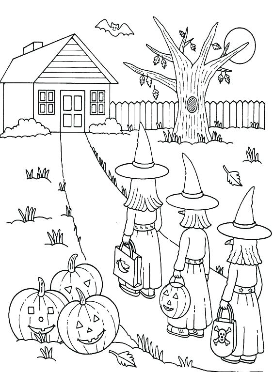 563x768 Halloween Coloring Pages For Children Kids Coloring Coloring Pages