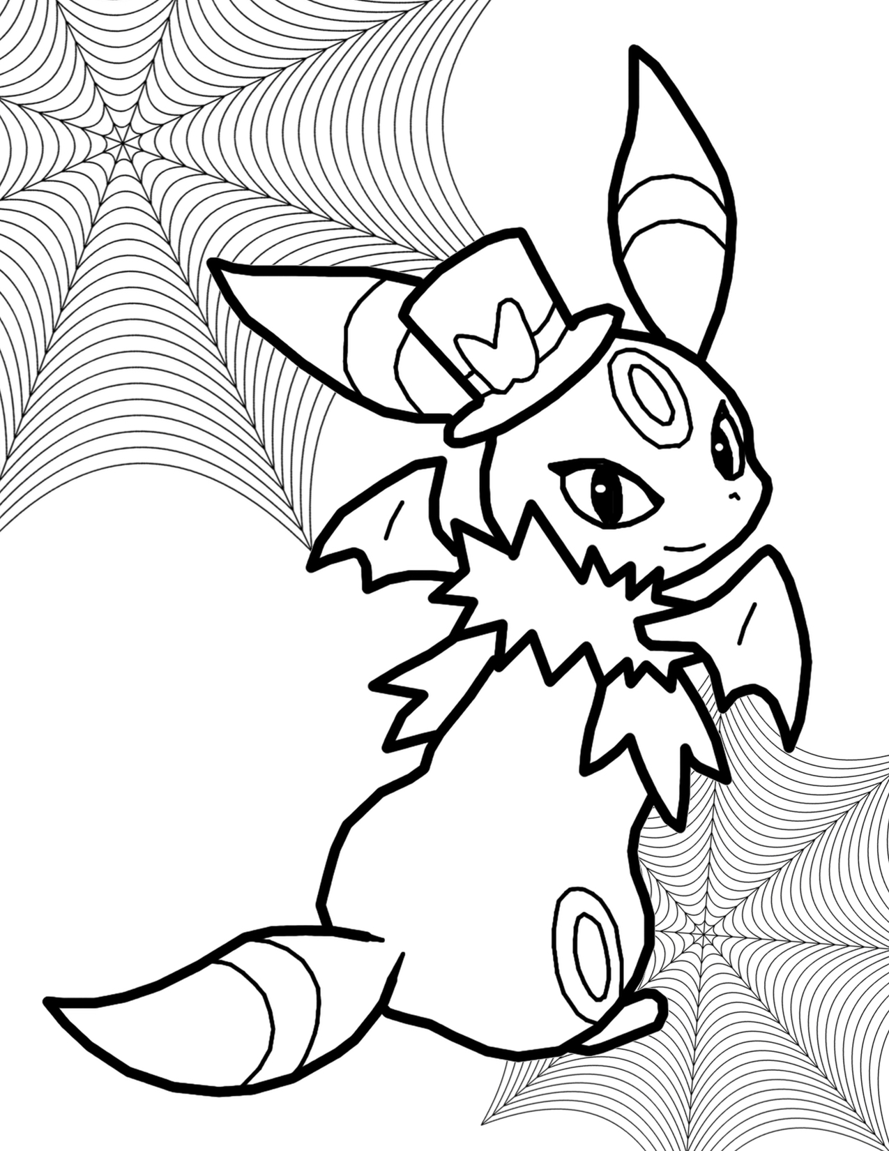 1275x1650 Pokemon Halloween Coloring Pages Printable To Tiny Page