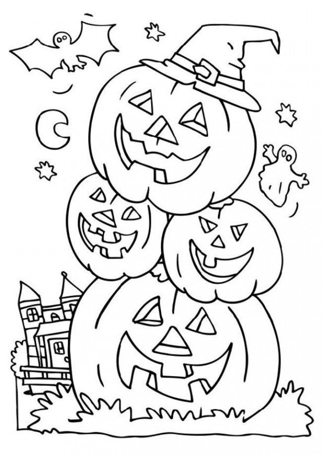 650x919 Coloring Sheets Halloween Halloween Coloring Pages For Toddlers
