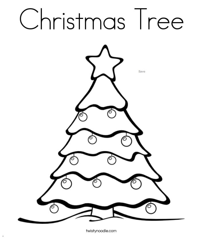 Kids Christmas Tree Coloring Page