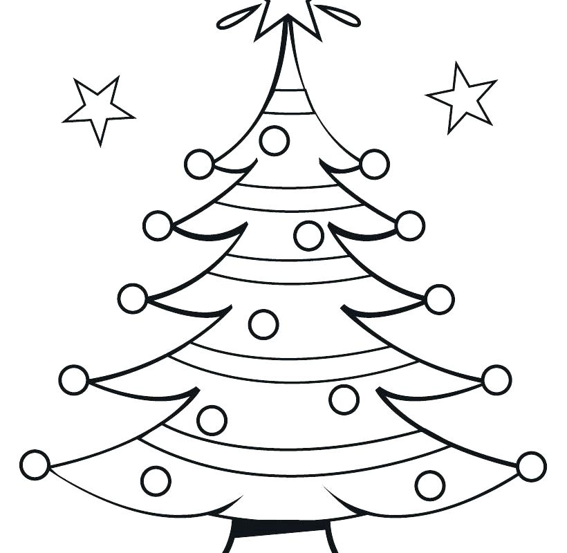 Kids Christmas Tree Coloring Page At Getdrawings Com Free For
