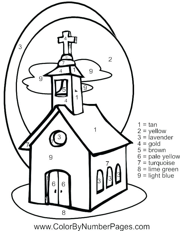 627x802 Church Coloring Pages For Kids Church Coloring Page Download Free