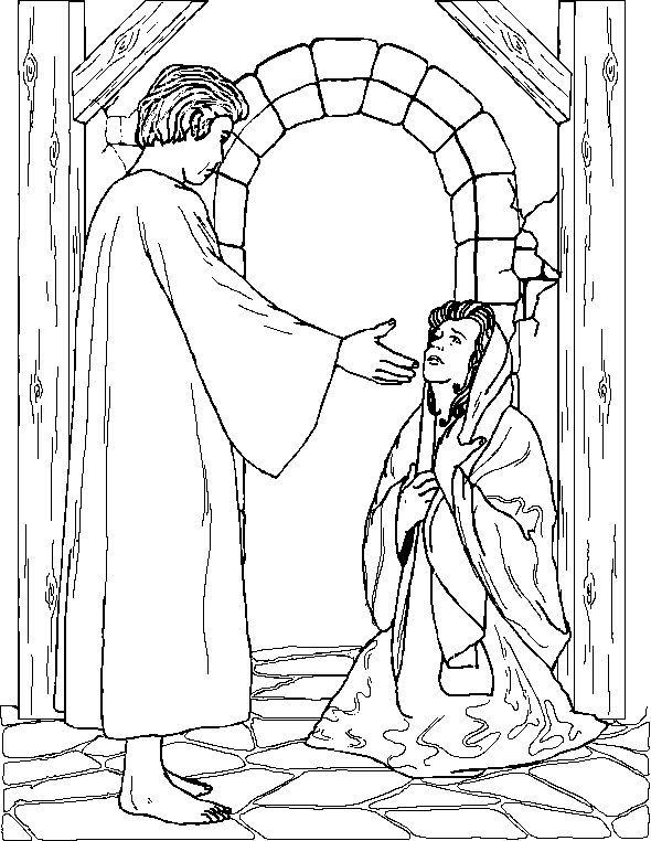590x762 Best Bible Related Coloring Pages Images On Sunday