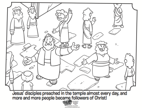 497x384 Kids Coloring Page From What's In The Bible Showing Peter