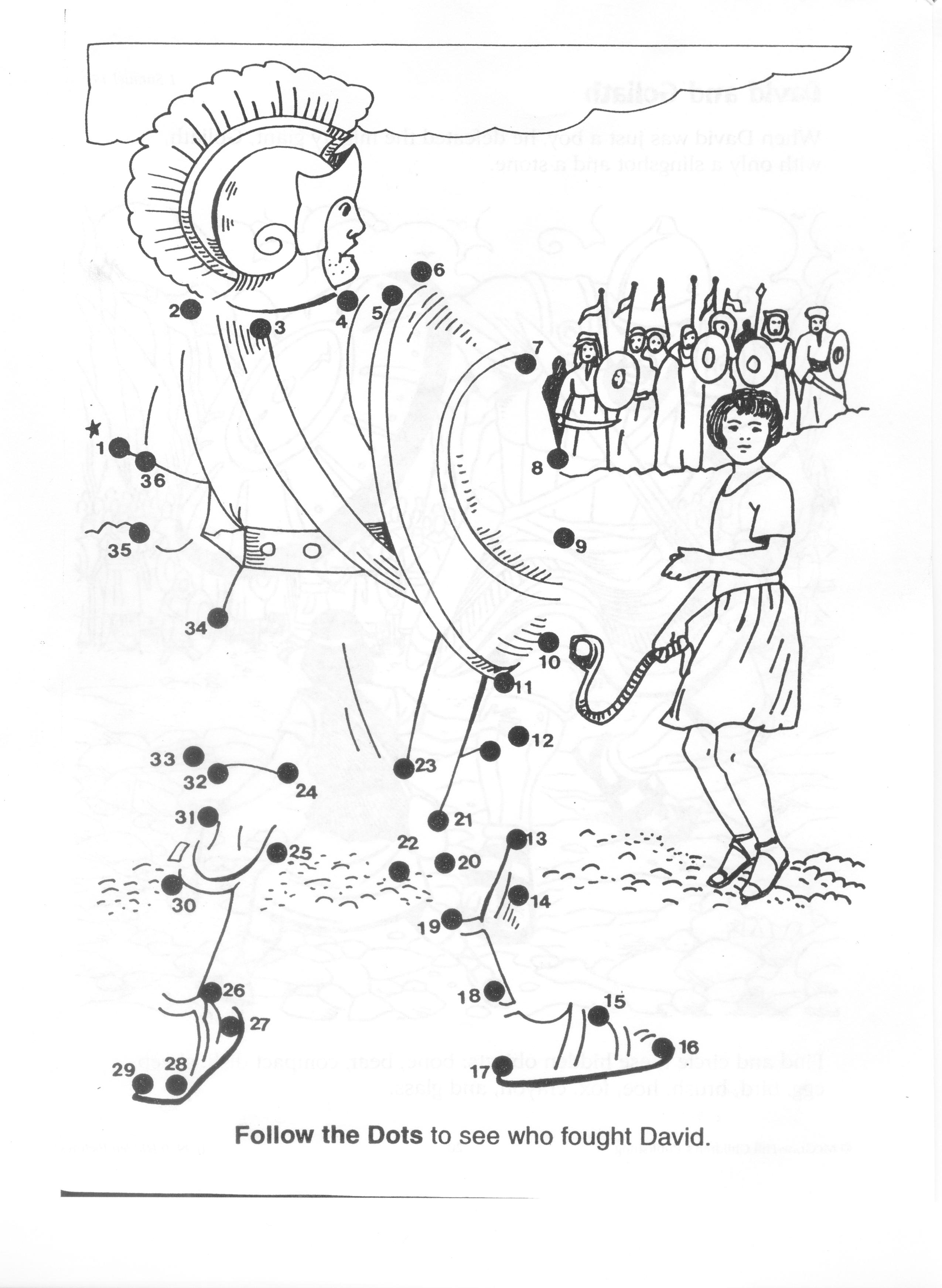 2550x3487 Wanted David And Goliath Coloring Page Pages K