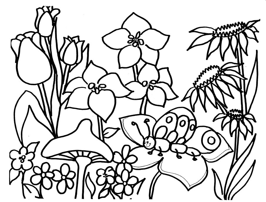 906x688 Printable Coloring Activities Springtime Coloring Pages For Kids