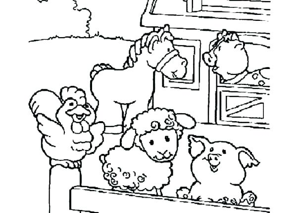 600x429 Farm Animals Coloring Farm Coloring Pages Coloring Animal Coloring