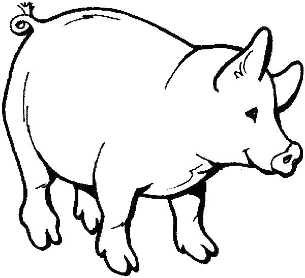 600x547 Free Printable Farm Animals Masks Coloring Pages To Print