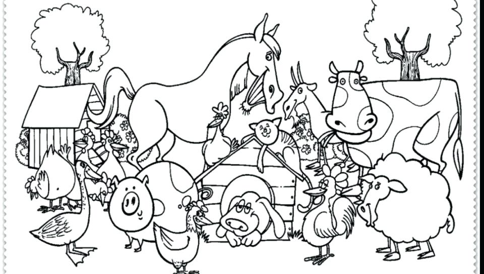 960x544 Print Out Coloring Pages Farm Animals Kids Coloring Farm