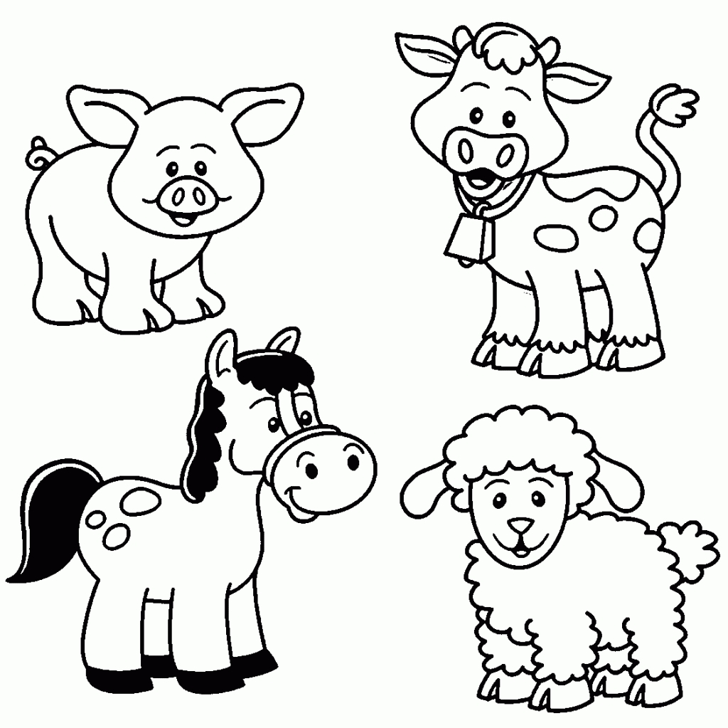1024x1023 Unique Free Animal Coloring Pages For Kids Collection Printable