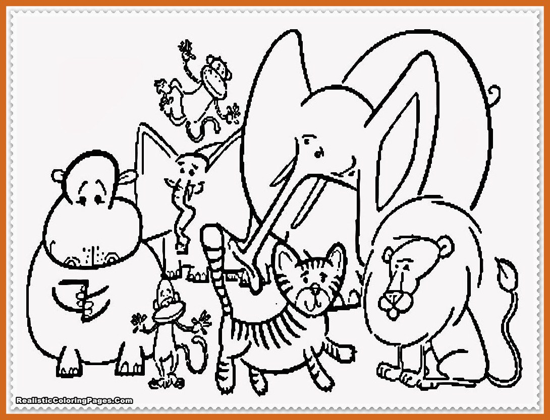 1090x834 Appealing Coloring Page Zoo Pics For Kids Farm Animal Preschoolers