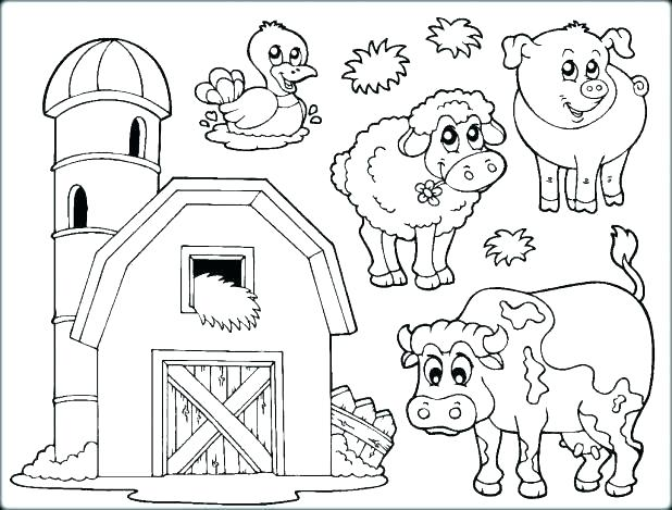 618x469 Coloring Pages For Kids Animals Chic Farm Animal Template Online