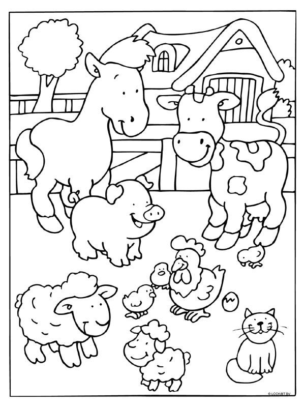 Kids Coloring Pages Farm Animals_