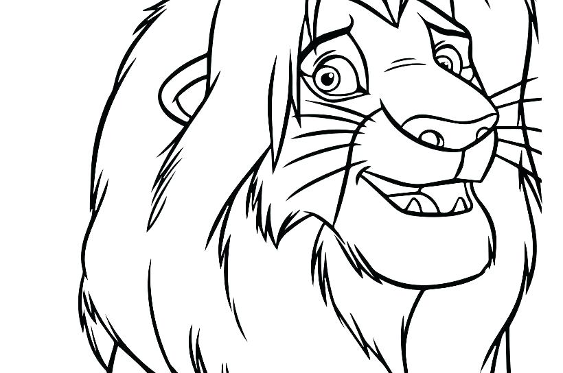 820x544 Coloring Page Animals Coloring Pages For Kids Animals Amazing Lion