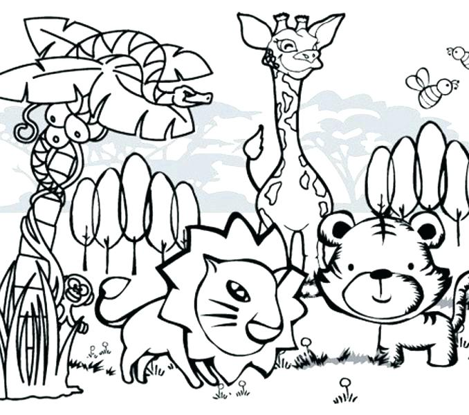 678x600 Farm Animal Coloring Pages In Addition To Funny Animal Coloring