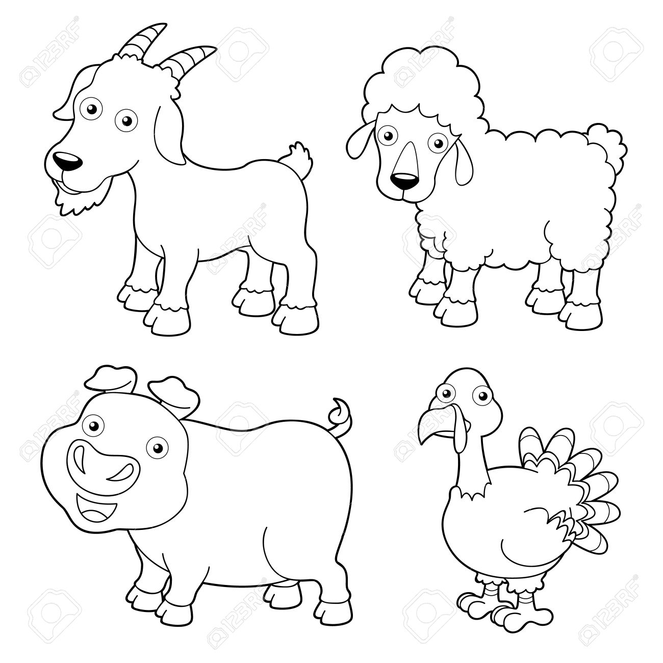 1300x1300 Advice Pictures Of Farm Animals To Color Free Printable Animal