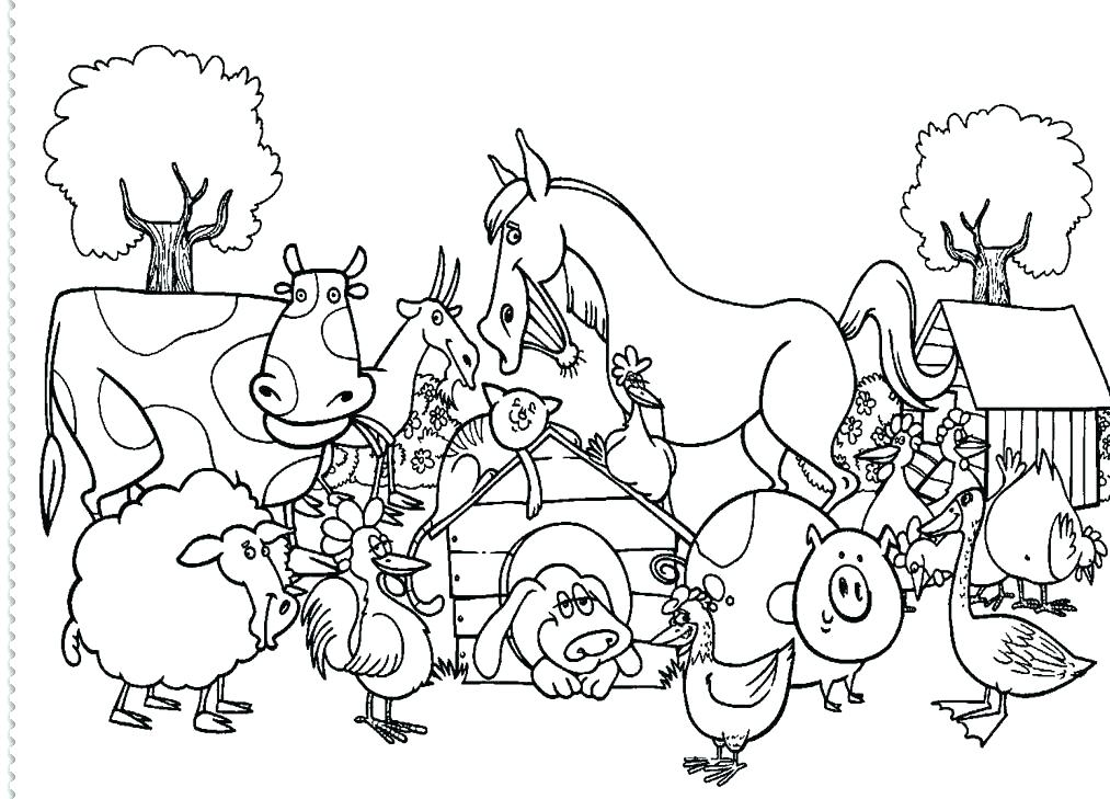 1013x729 Free Printable Farm Animal Coloring Pages For Kids Coloring Pages
