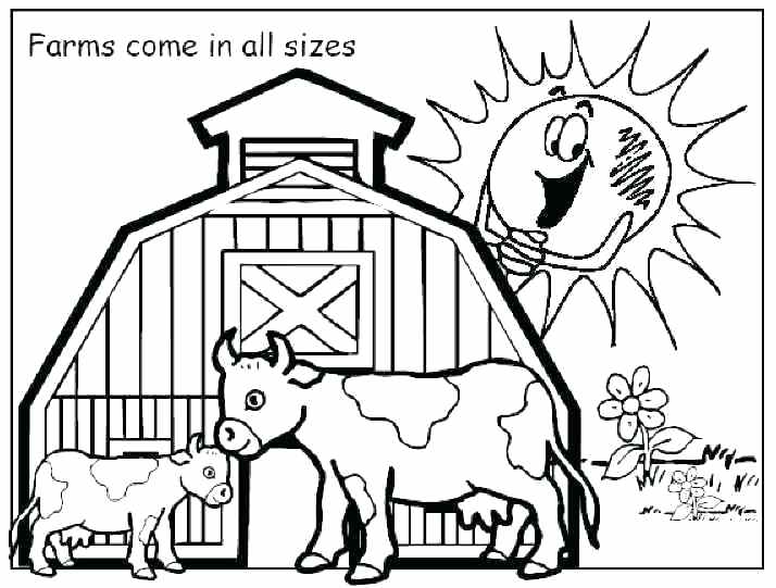 714x541 Free Printable Farm Animal Coloring Pages