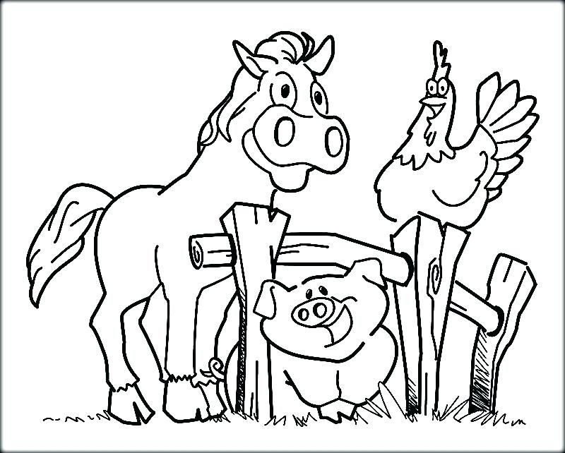 800x642 Animals Coloring Page Farm Coloring Pages Free Printable Printable