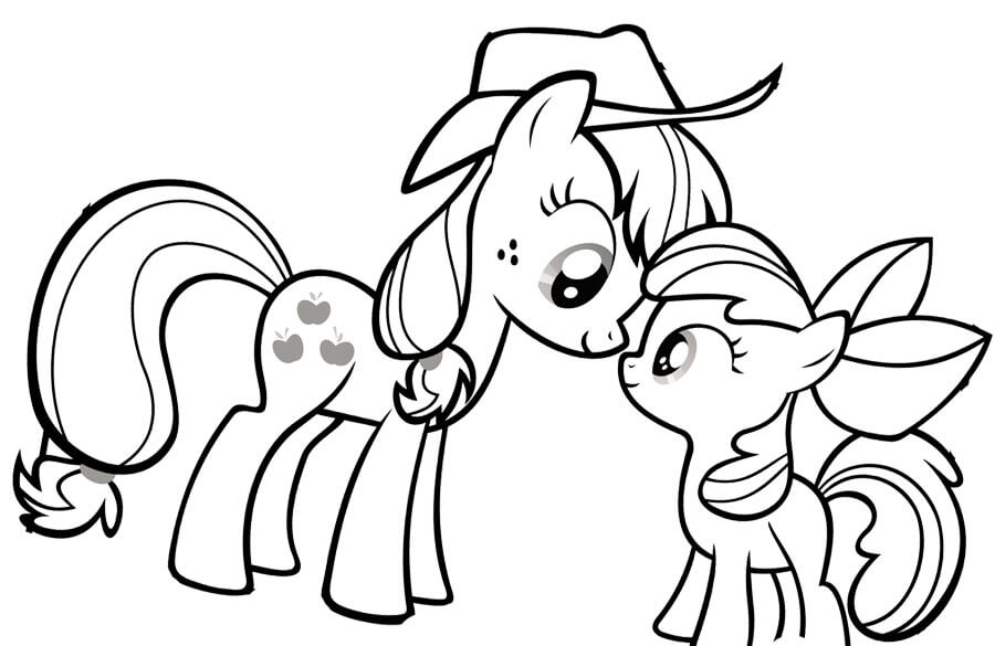 Kids Coloring Pages My Little Pony At Getdrawings Com Free For