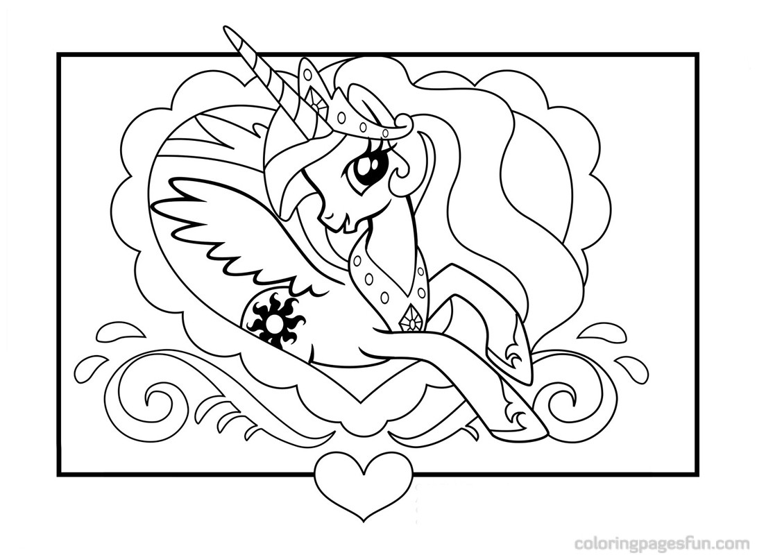 1091x800 My Little Pony Coloring Page The Sun Flower Pages