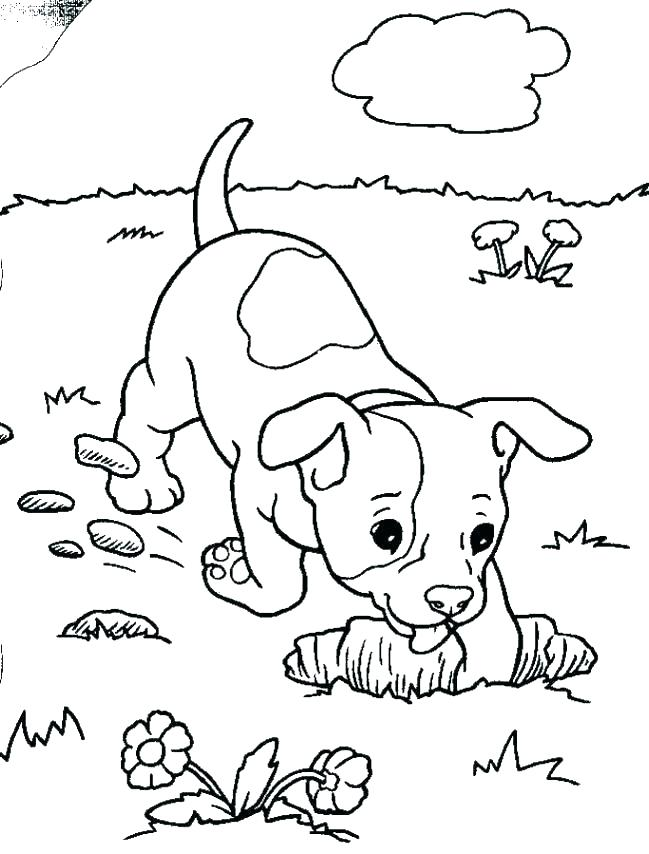Kids Coloring Pages Puppies at