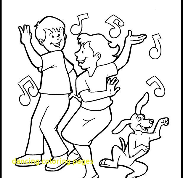 618x600 Dancing Coloring Pages With Printable Dance Coloring Pages