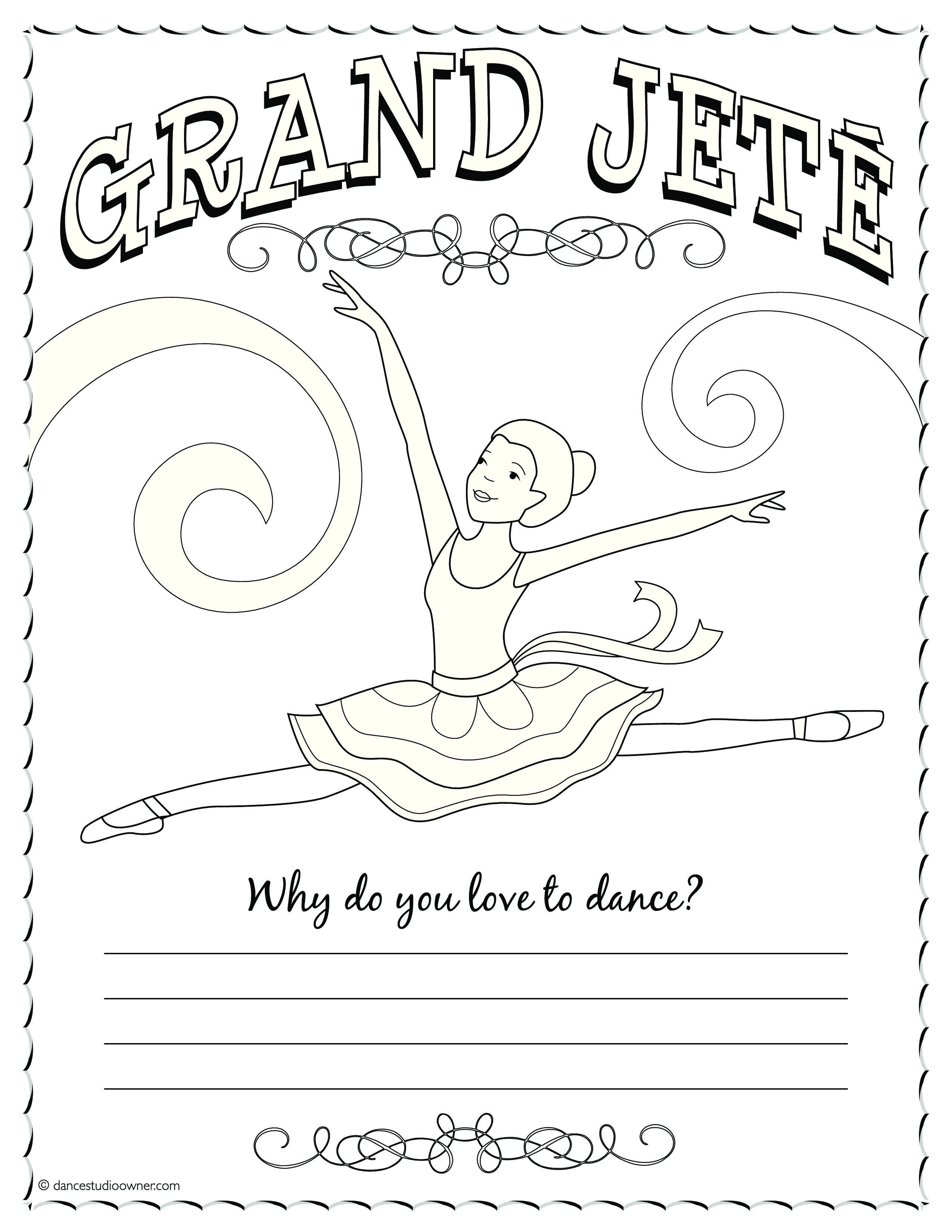 2550x3300 Ballerina Coloring Pages For Kids
