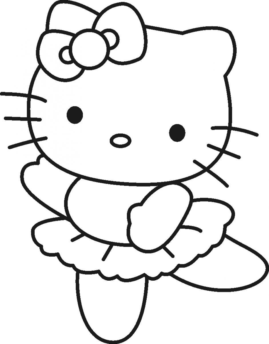 941x1200 Nice Hello Kitty Ballerina Coloring Pages