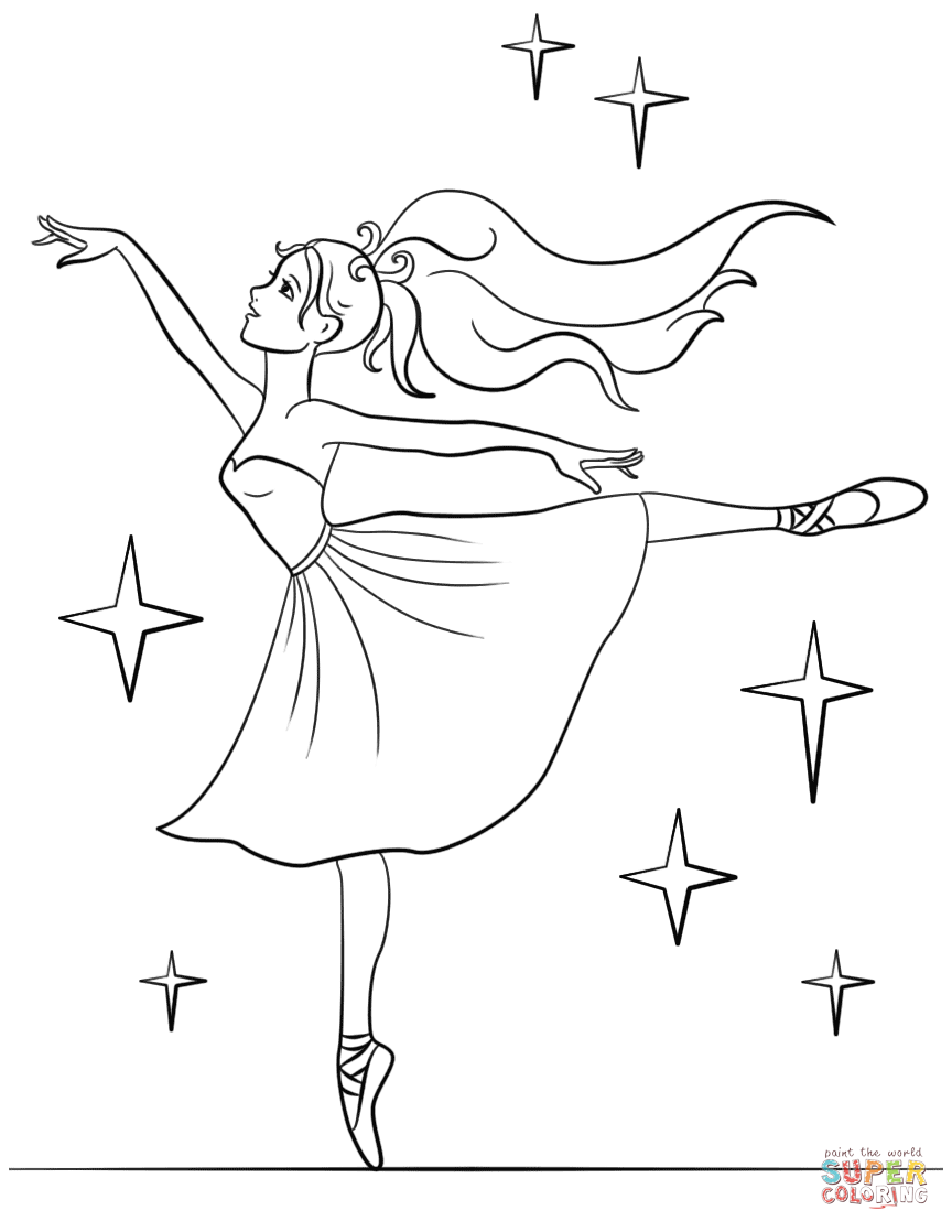 864x1118 Ballerina Coloring Pages Free