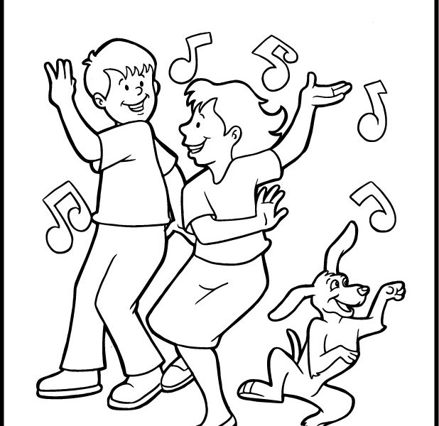 618x600 Dance Coloring Pages