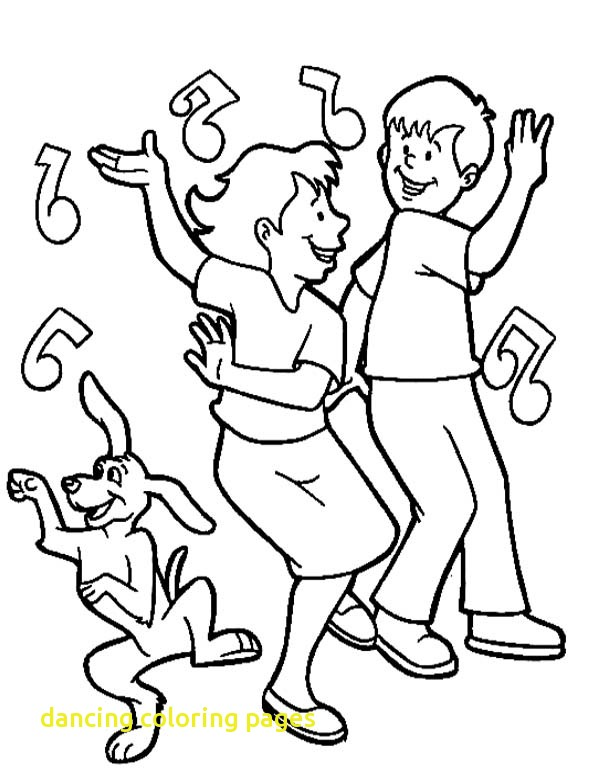 600x775 Dancing Coloring Pages With Dance Kids On Royalty Free Coloring