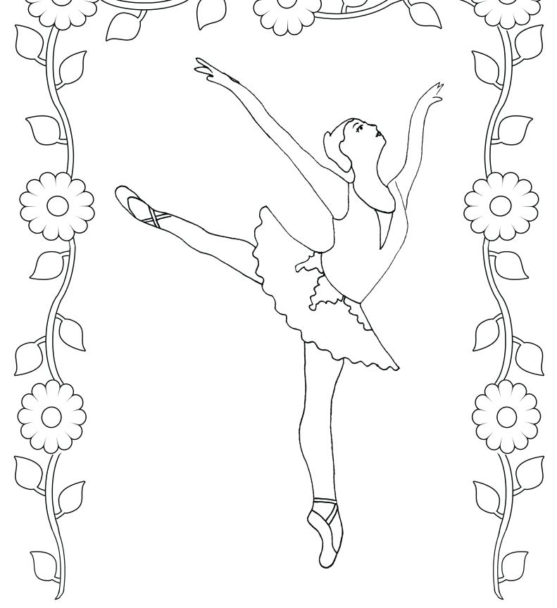 791x864 Free Printable Ballet Dancer For Kids Coloring Pages Ballerina